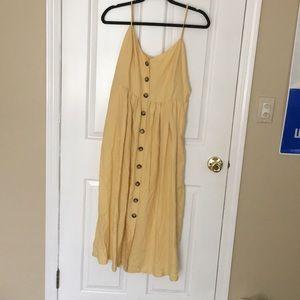 H&M button front dress